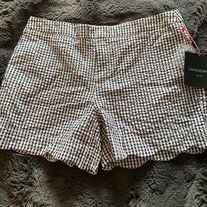Cynthia Rowley black and white gingham shorts